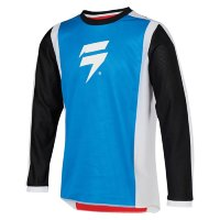 Мотоджерси подростковая Shift Whit3 Race 2 Youth Jersey White/Red/Blue M (24166-574-M)