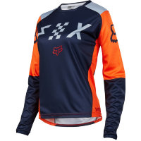 Мотоджерси женская Fox Switch Womens Jersey Grey/Orange XL (19465-230-XL)